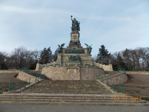 This monument, built by German Emperor Wilhelm I, serves as a memorial for the unity of Germany after the European wars in the 19th century.